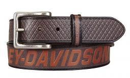 Harley-Davidson® Men's Free Rein Belt | Brown | American Flag Motif