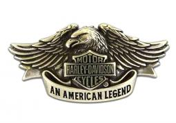 Harley-Davidson® Men's American Legend Belt Buckle | Brushed Chrome Finish