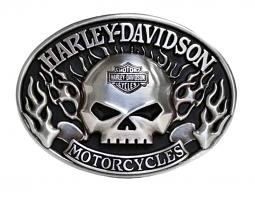 Harley-Davidson® Men's Immunity Flame Belt Buckle | Willie G® Skull
