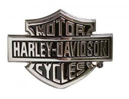 Harley-Davidson® Men's Bar & Shield® Logo Belt Buckle | Chrome Finish