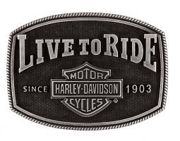 Harley-Davidson® Men's Live To Ride Belt Buckle | Bar & Shield® Logo