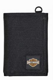 Harley-Davidson® Men's Full Speed Tri-Fold Wallet | Polyester | RFID Protection