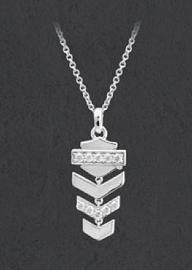 Harley-Davidson® Women's Bling & Arrow Chevron Drop Necklace | Rhinestone Embellished