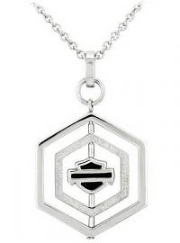 Harley-Davidson® Women's Hexagon Spinner Necklace | Bar & Shield® | Two Sizes