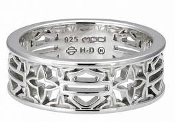 Harley-Davidson® Women's Bar & Shield® Silhouette Ring