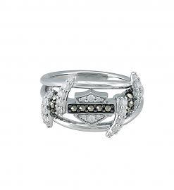 Harley-Davidson® Women's Bling Barb Wire Ring