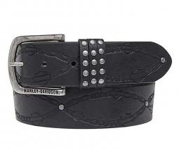 Harley-Davidson® Women's Linked Belt | Embossed Pattern