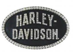 Harley-Davidson® Women's Marquee Belt Buckle | Rhinestone Embellished