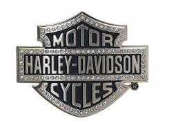Harley-Davidson® Women's Lineage Belt Buckle | Bling Bar & Shield® | Antiqued Silver Tone