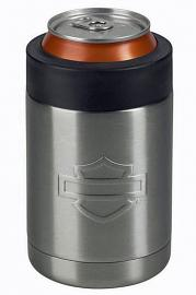 Harley-Davidson® Bar & Shield® Silhouette Stainless Steel Can Cooler