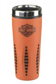 Harley-Davidson® Bar & Shield® Orange Insulated Travel Mug | Stainless Steel