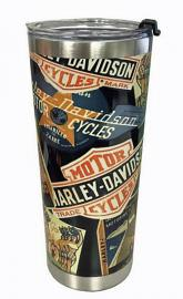 Harley-Davidson® Destinations Travel Mug | Textured Surface