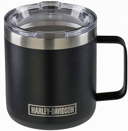 Harley-Davidson® Stainless Steel Coffee Mug | Includes Clear Lid