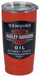 Harley-Davidson® Oil Can Label Insulated Travel Mug