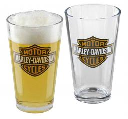 Harley-Davidson® Bar & Shield® Pint Glass Set   Set of Two