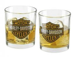 Harley-Davidson® Bar & Shield® Double Old Fashioned Set | Two Glasses