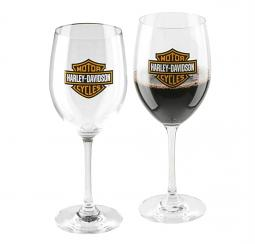 Harley-Davidson® Bar & Shield® Wine Glass Set | Set of Two