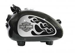 Harley-Davidson® Hog Bank | Silver Flame Design