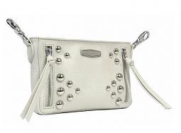 Harley-Davidson® Women's Heavy Metal Hip Bag | Cream | Detachable Strap | Dome Stud Embellishments