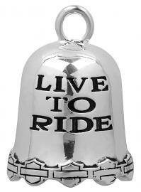 Harley-Davidson® Silver-Tone  Ride Bell   Live to Ride   Bar & Shield®