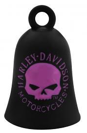 Harley-Davidson® Willie G® Skull Ride Bell   Matte Black & Pink