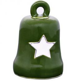 Harley-Davidson® Green & White Star Ride Bell | Military Tribute
