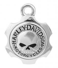Harley-Davidson® Silver-Tone Axel Skull Ride Bell | Willie G® Skull
