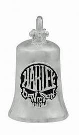 Harley-Davidson® Calavera Skull Ride Bell | Bar & Shield® on Back | Silver Tone