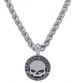 Harley-Davidson® Men's Willie G® Skull Disc Necklace