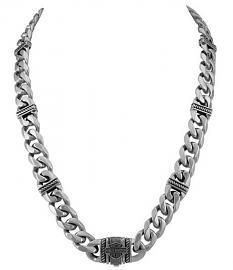 Harley-Davidson® Men's Bar & Shield® Curb Link Necklace | Two Sizes