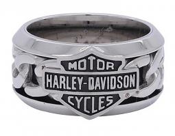 Harley-Davidson® Men's Bar & Shield® Chain Ring