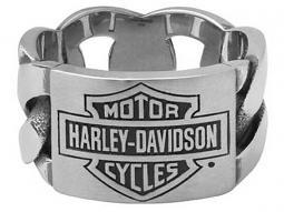 Harley-Davidson® Men's Bar & Shield® ID Chain Ring