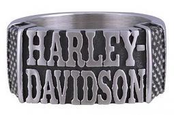 Harley-Davidson® Men's Western Band Ring | Antique Finish