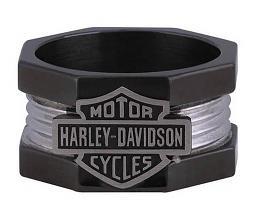 Harley-Davidson® Men's Nuts & Bolts Bar & Shield® Ring