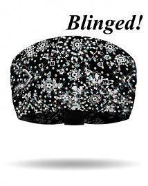 That's A Wrap!® Women's Classic Bandana Knotty Band™ Head Wrap | Black | AB Crystal Embellishments