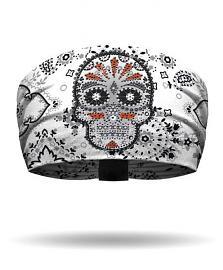 That's a Wrap!® Eye Candy Knotty Band™ White Head Wrap | Rhinestone Embellishments