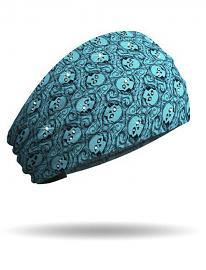 That's A Wrap!® Eye Spy Knotty Band™ Teal Head Wrap | Rhinestone Embellishments