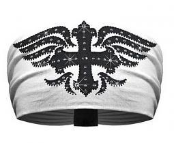 That's A Wrap!® Mystique Cross Knotty Band™ Head Wrap | Rhinestones & Rhinestuds