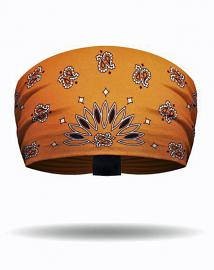 That's A Wrap® Women's Engineered Bandana Print Knotty Band™ Head Wrap | Orange