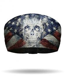 That's A Wrap!® Patriotic Ghost Skull Knotty Band™ Head Wrap