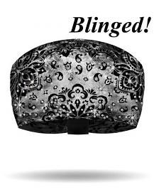 That's A Wrap!® Rad-Danna Knotty Band™ Head Wrap | Black | AB Crystal Embellishments