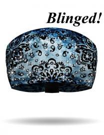 That's A Wrap!® Rad-Danna Knotty Band™ Head Wrap | Blue | AB Crystal Embellishments
