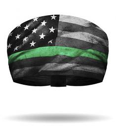 That's A Wrap!® Women's Service Flag Knotty Band™ Head Wrap | Green Line