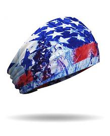 That's A Wrap!® Star Gazer Knotty Band™ Head Wrap | Patriotic Blue