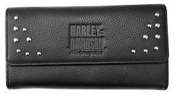 Harley-Davidson® Women's Tri-Fold Clutch Wallet | Ladies' Separates Collection | RFID Protection