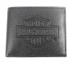 Harley-Davidson® Men's Bar & Shield® Embossed Leather Billfold | Coin Pocket Detail
