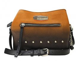 Harley-Davidson® Women's Ombré Crossbody | Orange-Into-Black | Adjustable Strap