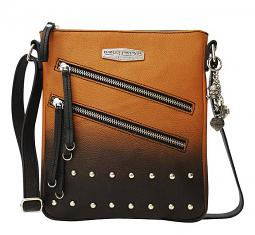 Harley-Davidson® Women's Ombré Vertical Crossbody | Orange-Into-Black | Adjustable Strap