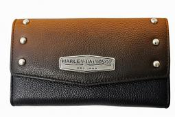 Harley-Davidson® Women's Ombré Clutch Wallet | Orange-Into-Black