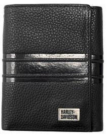Harley-Davidson® Men's Racer Stripe Tri-Fold Wallet | RFID Protection